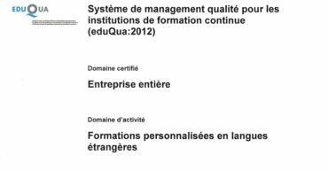 certification eduQua de Formations&Co